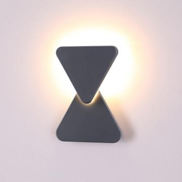 Настенный светодиодный светильник Novotech Kaimas 358087, IP54, LED 12W 3000K 660lm, серый, металл, пластик