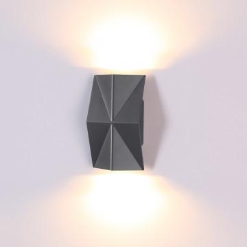 Настенный светодиодный светильник Novotech Kaimas 358088, IP54, LED 8W 3000K 550lm, серый, металл, стекло