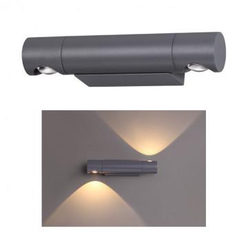 Настенный светодиодный светильник Novotech Kaimas 358089, IP54, LED 11W 3000K 900lm, серый, металл, пластик