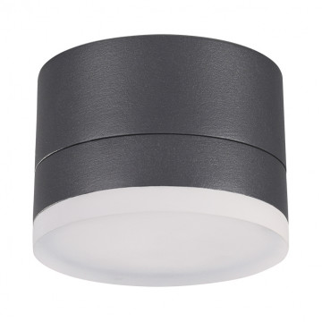 Потолочный светодиодный светильник Novotech Kaimas 358084, IP54, LED 12W 3000K 800lm, серый, металл, пластик