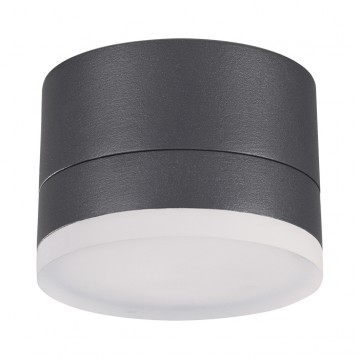 Потолочный светильник Novotech 358084, IP54, серый, металл, пластик