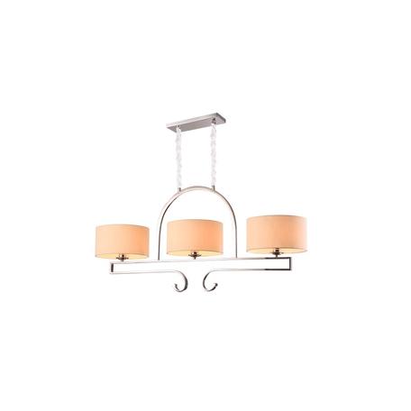 Подвесной светильник Newport 31303/S B/C, 3xE27x60W, бронза, бежевый, прозрачный, металл, текстиль, стекло