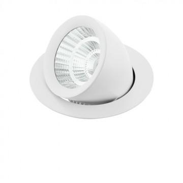 Встраиваемый светодиодный светильник с регулировкой направления света Eglo Pantaleo 61694, LED 19W 4000K 2900lm CRI>80, белый, металл