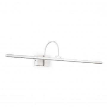 Настенный светодиодный светильник для подсветки картин Ideal Lux BONJOUR AP D90 BIANCO 199931 (BONJOUR AP1 BIG BIANCO), LED 12W 3000K 900lm, белый, металл, пластик