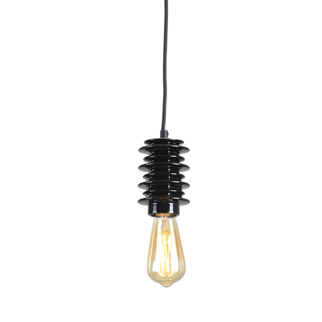 Подвесной светильник Lussole Loft Kingston LSP-9920, IP21, 1xE27x60W, черный, керамика - миниатюра 1
