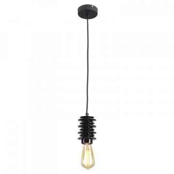 Подвесной светильник Lussole Loft Kingston LSP-9920, IP21, 1xE27x60W, черный, керамика - миниатюра 2