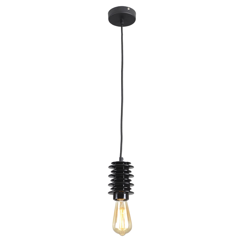 Подвесной светильник Lussole Loft Kingston LSP-9920, IP21, 1xE27x60W, черный, керамика - фото 2