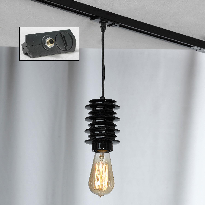 Подвесной светильник Lussole Loft Kingston LSP-9920, IP21, 1xE27x60W, черный, керамика - фото 3