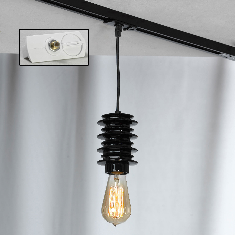 Подвесной светильник Lussole Loft Kingston LSP-9920, IP21, 1xE27x60W, черный, керамика - фото 4