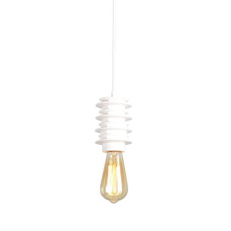 Подвесной светильник Lussole Loft Kingston LSP-9921, IP21, 1xE27x60W, белый, керамика