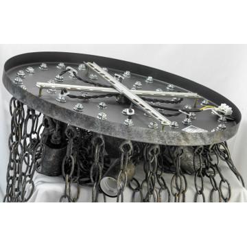 Потолочная люстра Lussole Loft Selden LSP-9800, IP21, 7xE27x60W, коричневый, металл - миниатюра 2