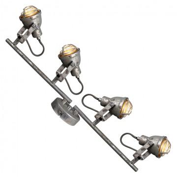 Потолочный светильник с регулировкой направления света Lussole Loft Rockville LSP-9805, IP21, 4xGU10x50W, серый, металл