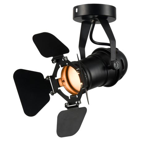 Потолочный светильник с регулировкой направления света Lussole Loft Thornton LSP-9838, IP21, 1xE14x40W, черный, металл