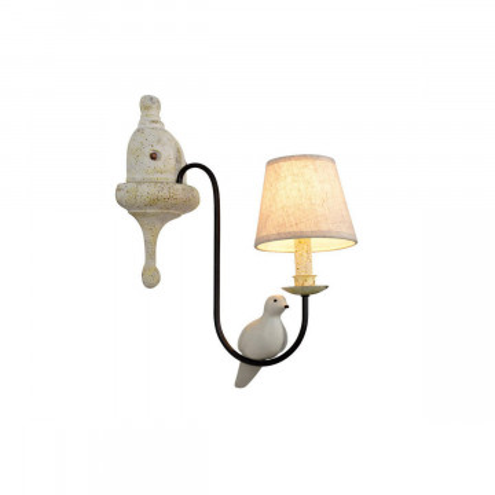 Бра Loft It Birds LOFT1029W-1, 1xE14x40W, черный, черно-белый, серый, бежевый, металл с пластиком, текстиль