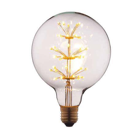 Филаментная светодиодная лампа Loft It Edison Bulb G12547LED шар E27 3W 220V, гарантия 1 год