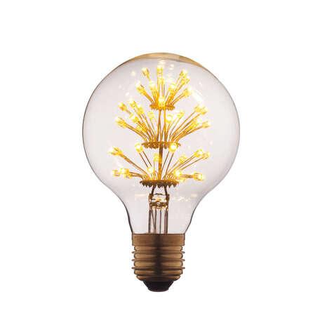 Филаментная светодиодная лампа Loft It Edison Bulb G8047LED шар E27 3W 220V, гарантия 1 год