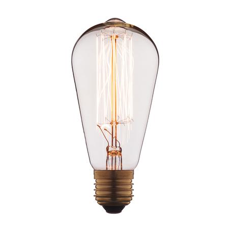 Лампа накаливания Loft It Edison Bulb 1007 прямосторонняя груша E27 40W 220V, гарантия нет гарантии