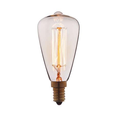 Лампа накаливания Loft It Edison Bulb 4840-F прямосторонняя груша E14 40W 220V, гарантия нет гарантии