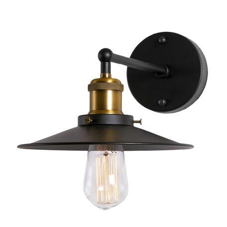 Настенный светильник Loft It Factory Filament LOFT2101W, 1xE27x60W, черный с бронзой, черный, металл