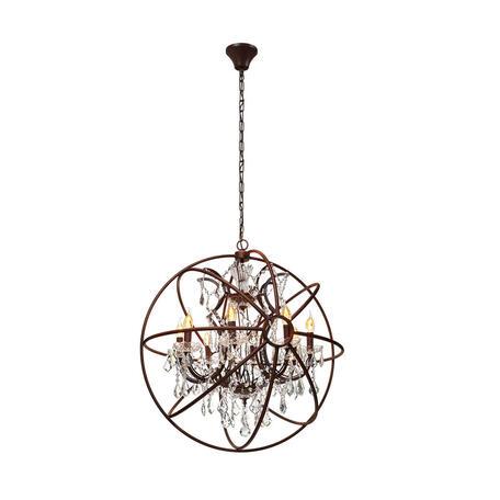 Подвесная люстра Loft It Foucaults Orb Crystal LOFT1897/8, 8xE14x40W, коричневый, прозрачный, металл с хрусталем, ковка, металл, хрусталь