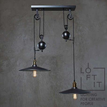 Подвесной светильник Loft It Reflector LOFT1832C-2, 2xE27x60W, черный, металл