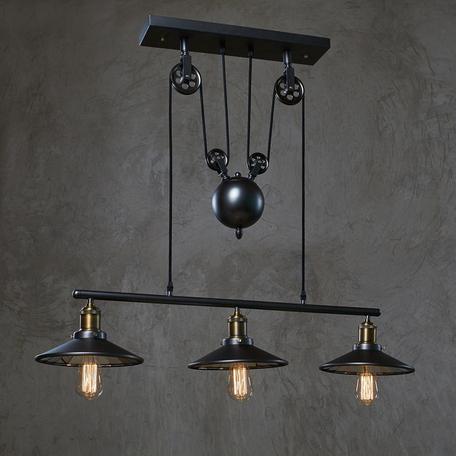 Подвесной светильник Loft It Reflector LOFT1832C-3, 3xE27x60W, черный, металл