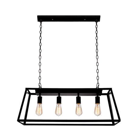 Подвесной светильник Loft It Modern Filament LOFT3110C, 4xE27x60W, черный, прозрачный, металл, металл со стеклом