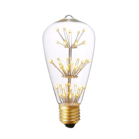 Светодиодная лампа Loft It Edison Bulb ST64-47LED прямосторонняя груша E27 3W 220V, гарантия 1 год