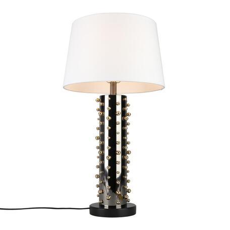 Светильник Omnilux Valsolda OML-83904-01, 1xE27x40W, черный, белый, металл, текстиль