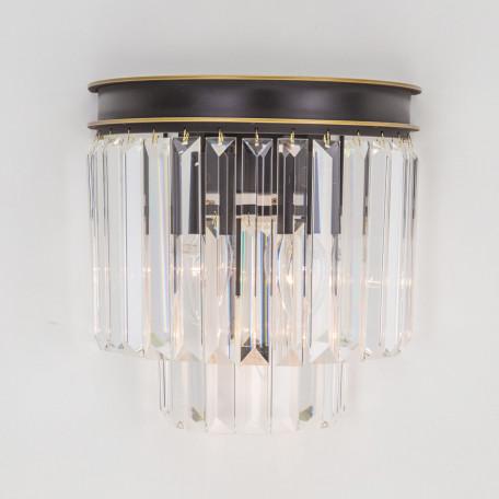Бра Citilux Мартин CL332331, 3xE14x60W, венге, прозрачный, металл, хрусталь