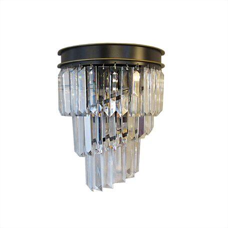 Бра Citilux Мартин CL332431, 3xE14x60W, венге, прозрачный, металл, хрусталь