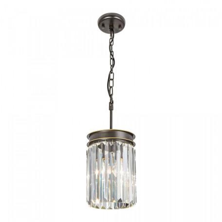 Подвесной светильник Citilux Мартин CL332011, 1xE27x75W, венге, прозрачный, металл, хрусталь