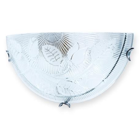 Бра Toplight Alexandra TL9120Y-01WH, 1xE27x60W, хром, прозрачный, металл, стекло