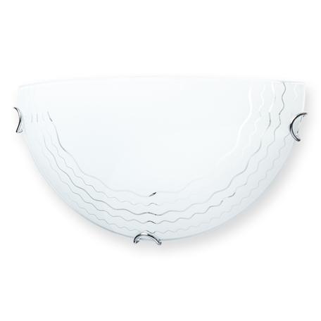 Бра Toplight Citte TL9130Y-01WH, 1xE27x60W, хром, белый, металл, стекло
