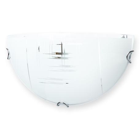 Бра Toplight Zier TL9150Y-01WH, 1xE27x60W, хром, белый, металл, стекло