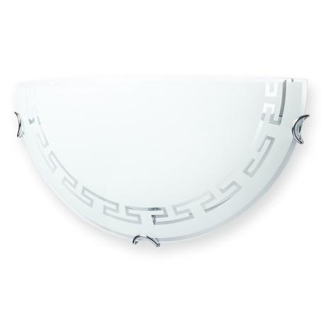 Бра Toplight Maude TL9160Y-01WH, 1xE27x60W, хром, белый, металл, стекло