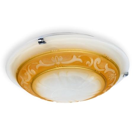 Потолочный светильник Toplight Elizabeth TL9090Y-02BE, 2xE27x60W, хром, коричневый, металл, стекло
