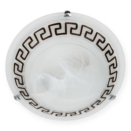 Потолочный светильник Toplight Amelia TL9182Y-03BR, 3xE27x60W, хром, коричневый с белым, металл, стекло