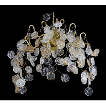 Бра Crystal Lux TENERIFE AP2 3180/402, 2xG9x40W, матовое золото, янтарь, металл, стекло