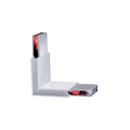 L-образный соединитель с LED-подсветкой для модульной системы Ideal Lux Linus Corner 241999, белый, металл