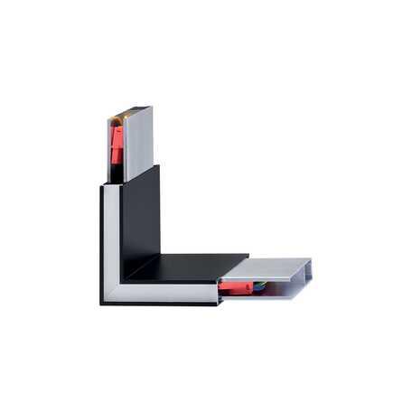 L-образный соединитель с LED-подсветкой для модульной системы Ideal Lux Linus Corner 242002, черный с серым, металл