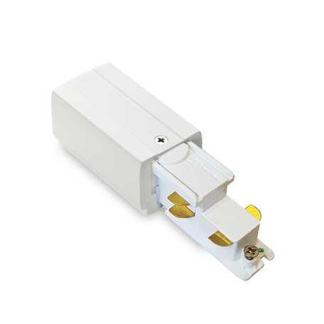 Правый подвод питания для шинной системы Ideal Lux Link Trimless Main Connector 246543, белый, металл