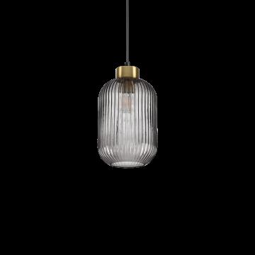 Светильник Ideal Lux Mint-1 SP1 237442, 1xE27x60W, черный с золотом, дымчатый, металл, стекло
