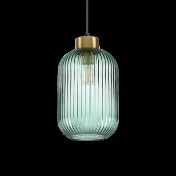 Светильник Ideal Lux Mint-3 SP1 237497, 1xE27x60W, черный с золотом, зеленый, металл, стекло