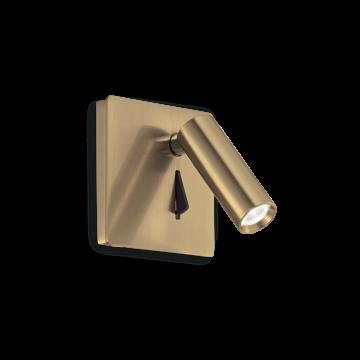 Светодиодный светильник Ideal Lux Lite Ap 250120, LED 3W, матовое золото, металл