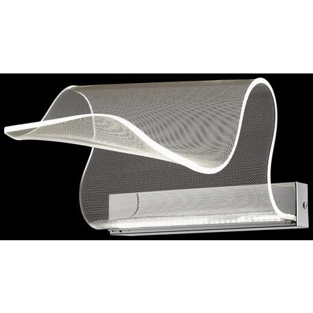 Настенный светодиодный светильник Wertmark Hanna WE451.01.101, LED 10W 3000K, хром, прозрачный, металл, пластик