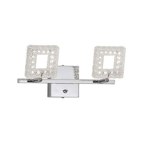 Настенный светодиодный светильник с регулировкой направления света Citilux Квадрат CL559621, LED 12W 3000K 960lm, хром, прозрачный, металл, пластик