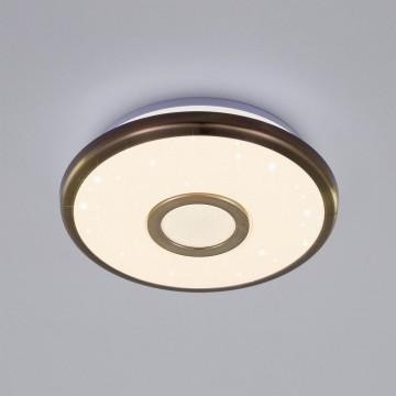 Потолочный светодиодный светильник Citilux Старлайт CL70313, IP44, LED 12W 3000K 800lm, белый, бронза, металл, металл с пластиком - миниатюра 3