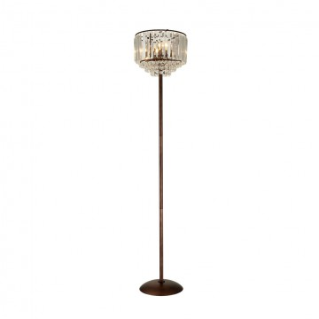 Торшер Citilux Синди CL330933, 3xE14x60W, коричневый, прозрачный, металл, хрусталь