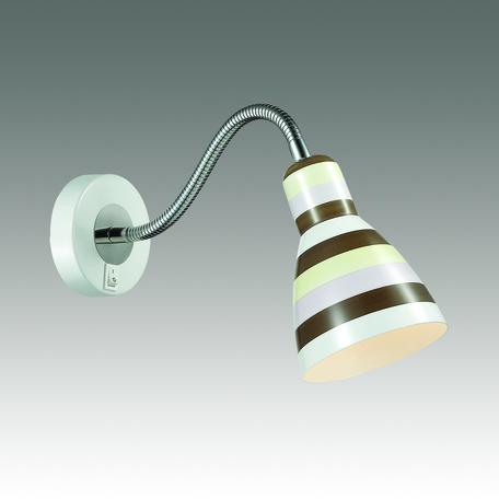 Настенный светильник Odeon Light Pika 3371/1W, 1xE27x40W, белый, хром, разноцветный, металл